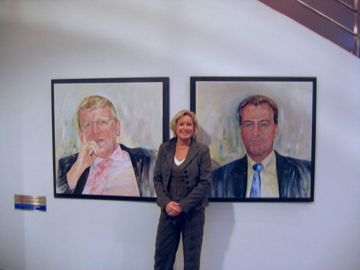 portretschilderijen van de raad van bestuur van AFAS