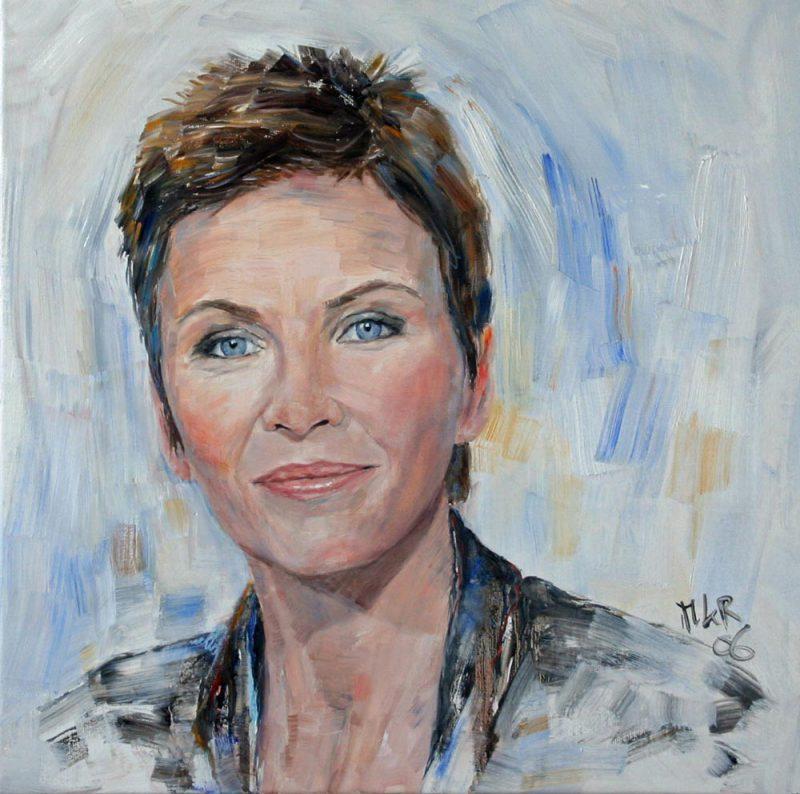 portretschilderij van Anita Witzier voor tijdschrift de LINDA.