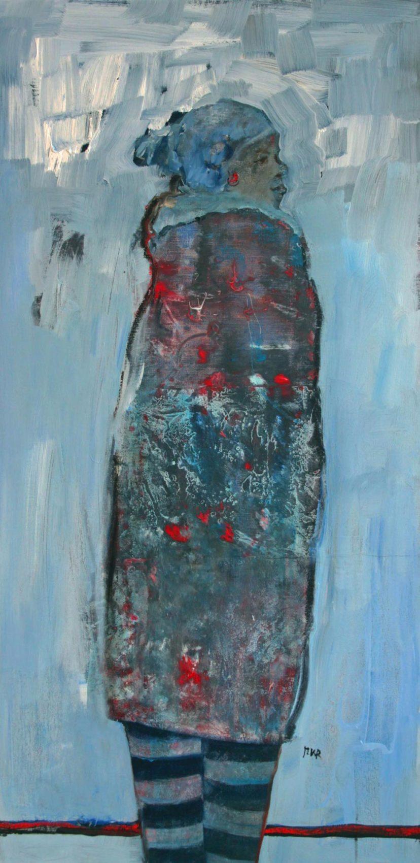 vrij werk, olie op linnen, 50x100 cm