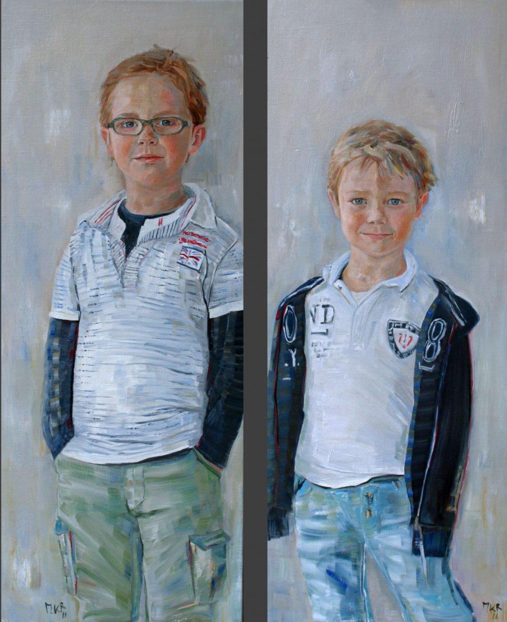 portretschilderijen van twee broers