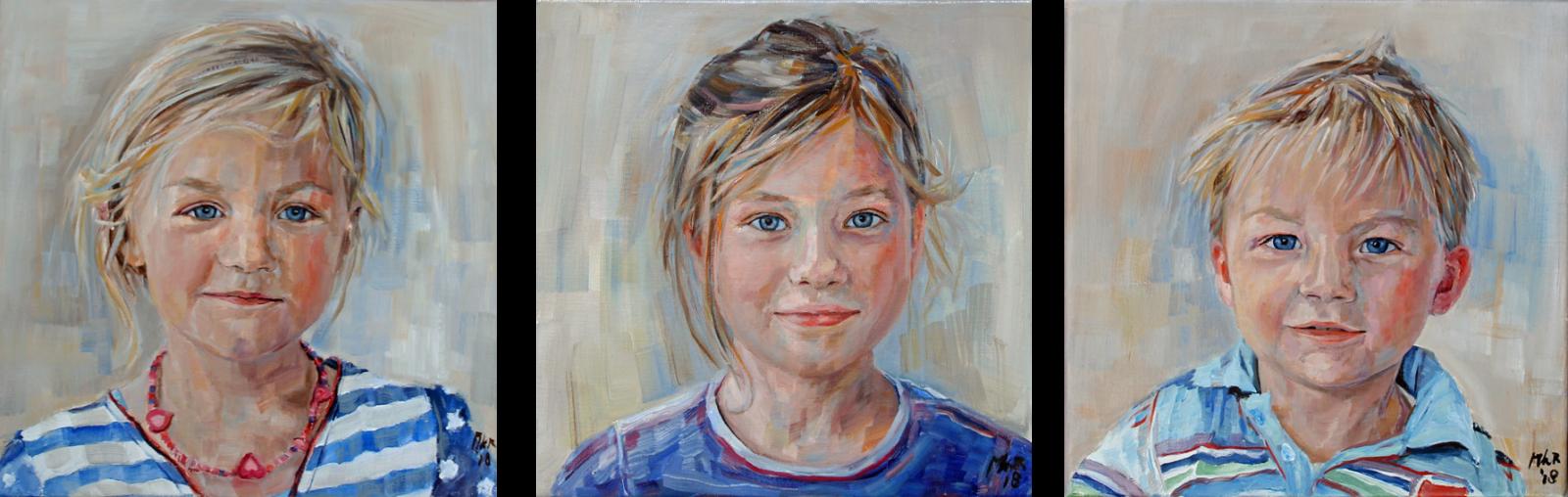 portretschilderij kinderen