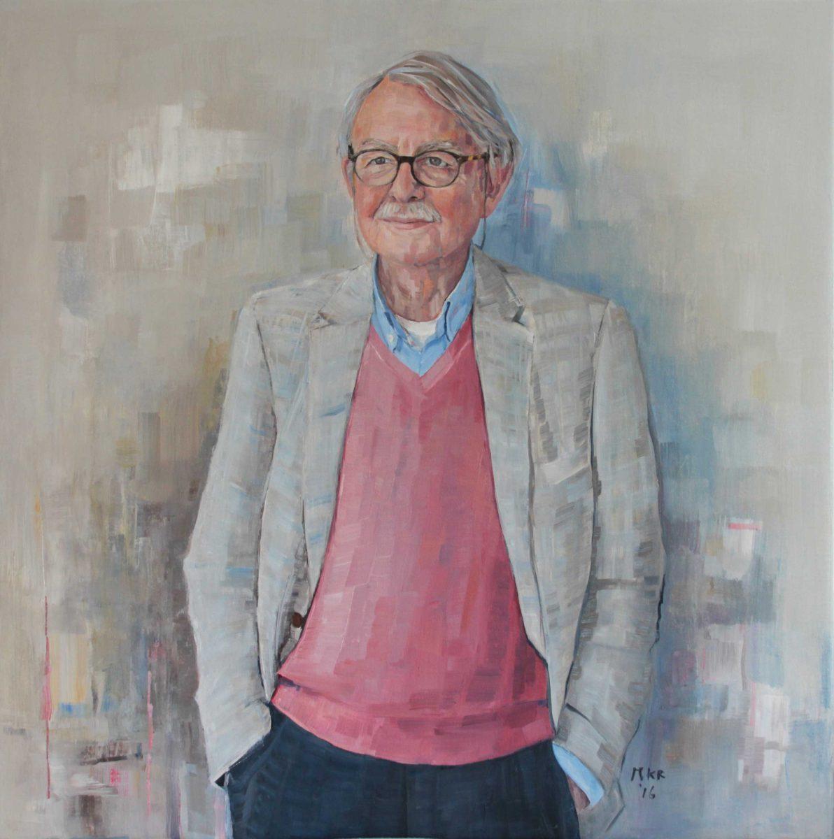 portretschilderij van een man in olieverf