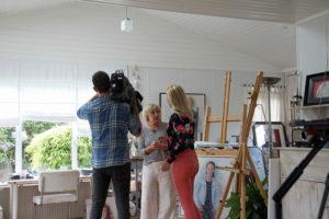 interview in het atelier voor RTL