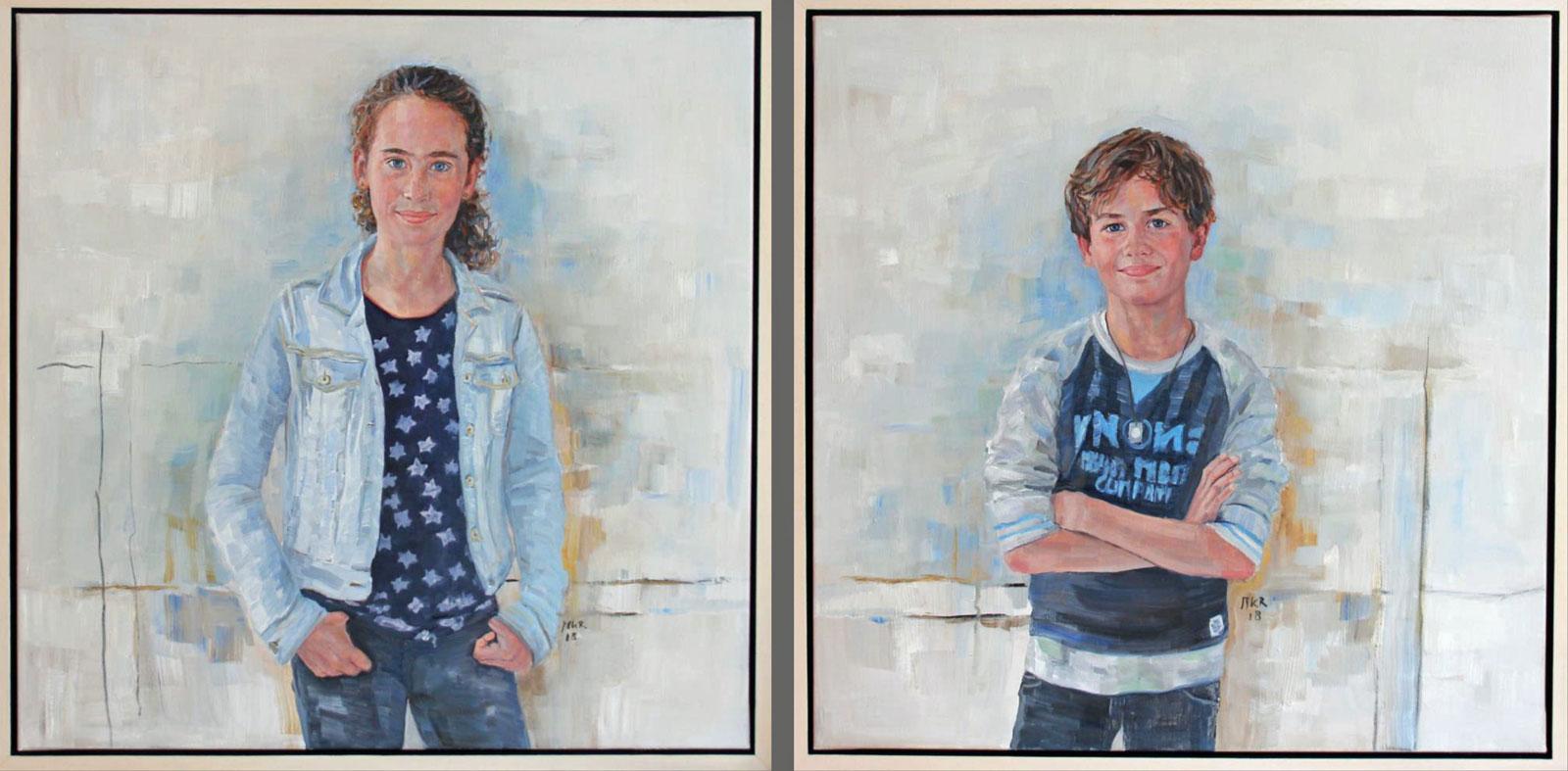 portretschilderijen van broer en zus
