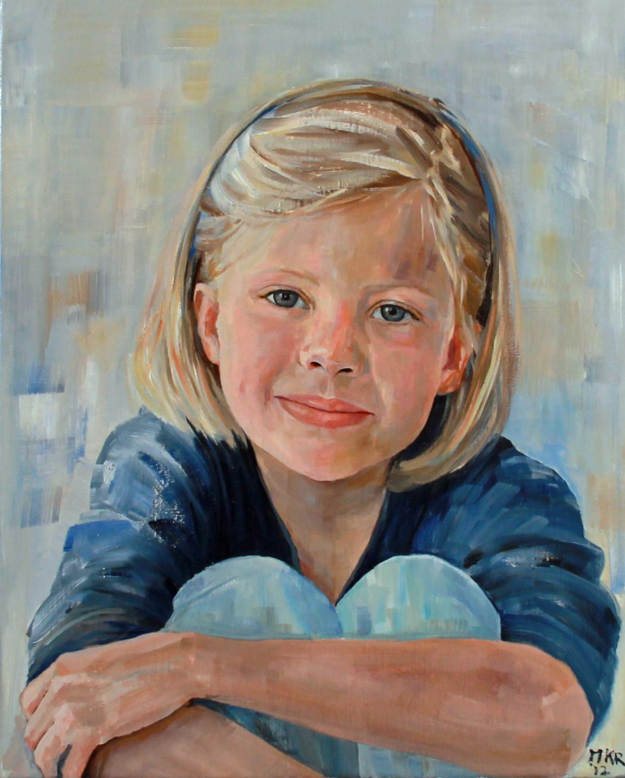 portretschilderij van meisje