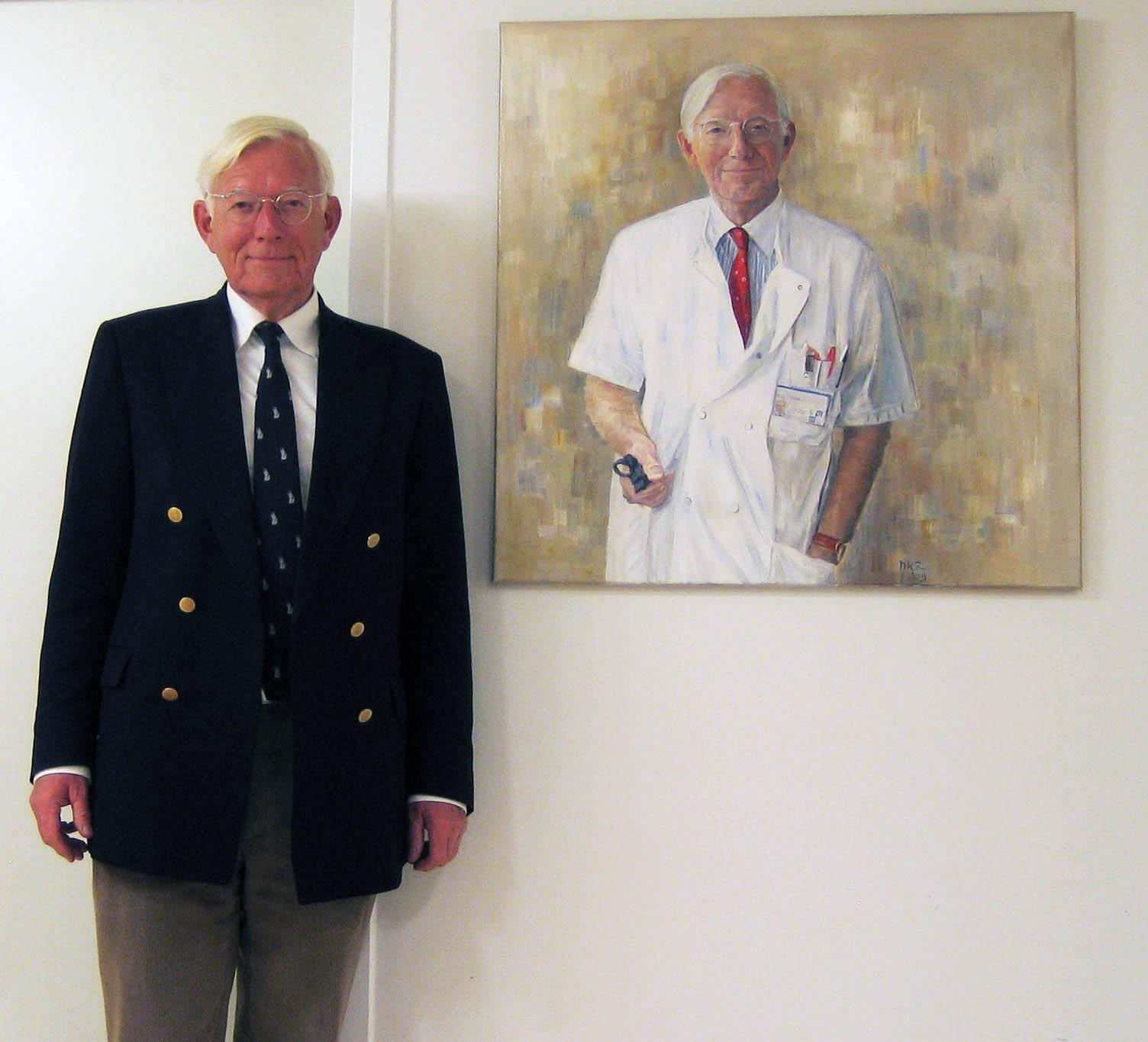 portret van professor Sterk in het LUMC