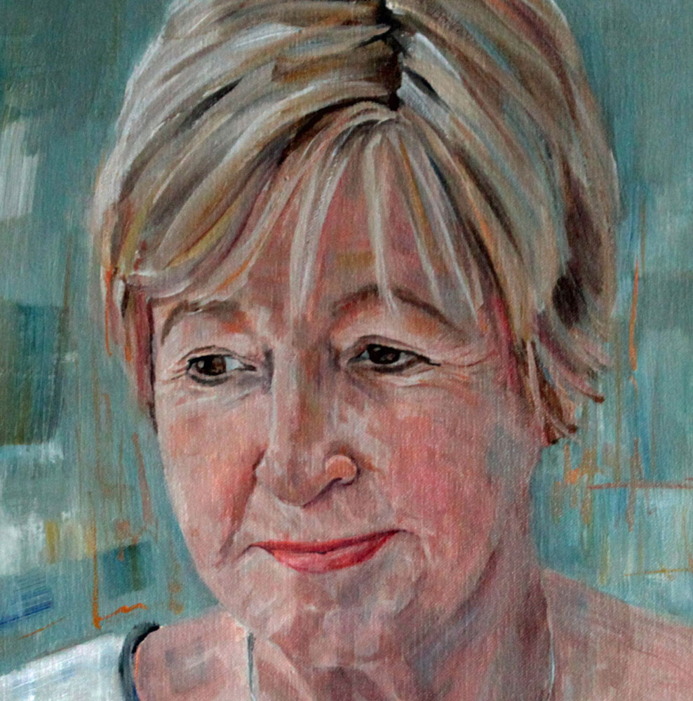 detail van portret in olieverf