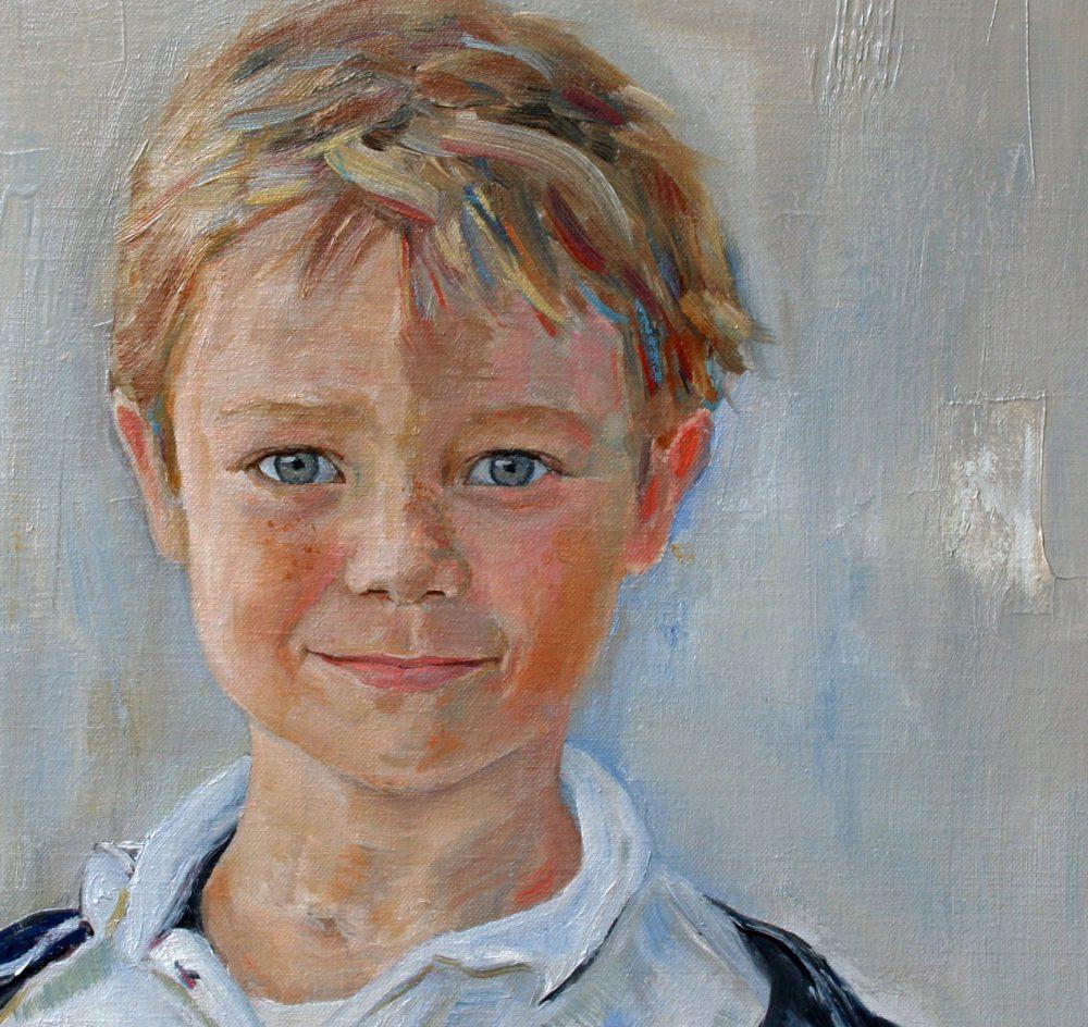 portret jongen, detail