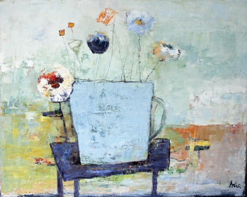 Summerday, oil and waxmedium, 80 x 100 cm, sold.