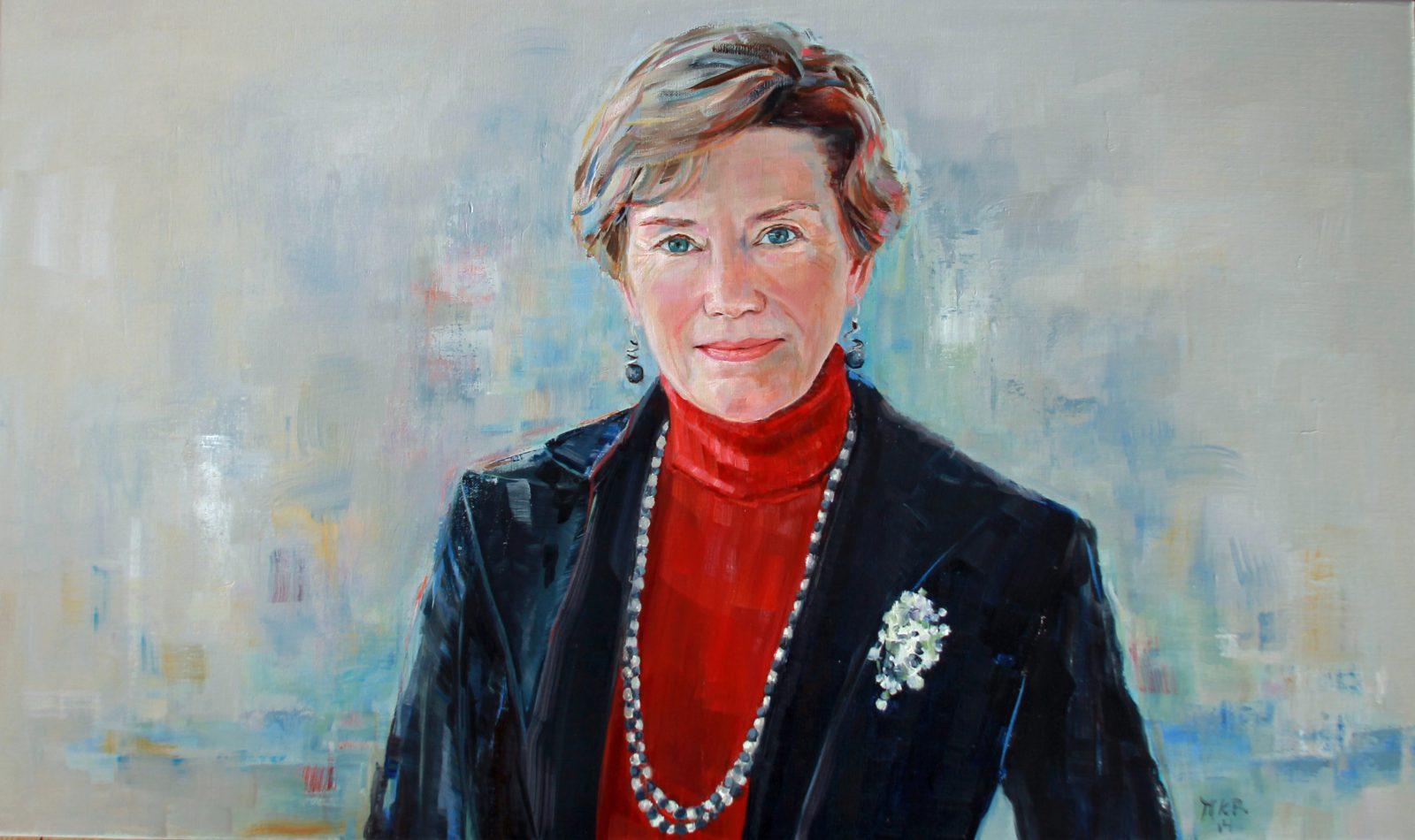 portretschilderij van vrouw in olieverf